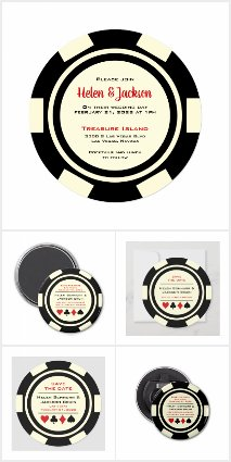 Wedding - Poker Chip Black & Off White