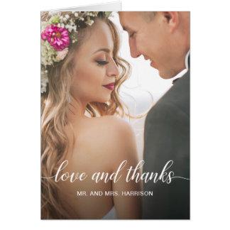 Wedding Portrait Personalized Photo Thank You Card