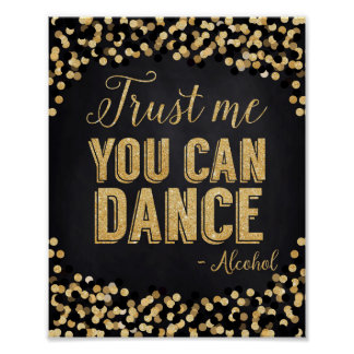 Wedding Poster Gold and Black- Dance Floor