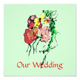 "WEDDING PRODUCTS 5.25"" SQUARE INVITATION CARD"