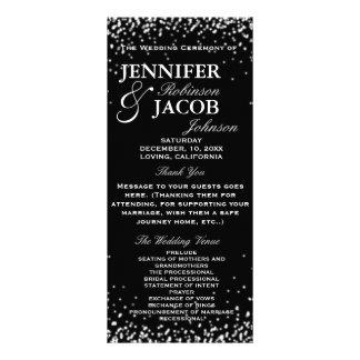 Wedding Program   Black with White Stars