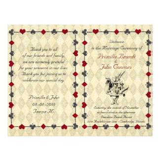 Wedding Program Ceremony,Alice in Wonderland Flyer
