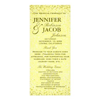 Wedding Program | Distressed Vintage Look Rack Card