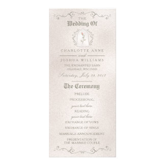 WEDDING PROGRAM | Elegant Rose of Beauty