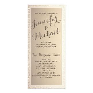 Wedding Program | Gold and Tan Rack Card Design