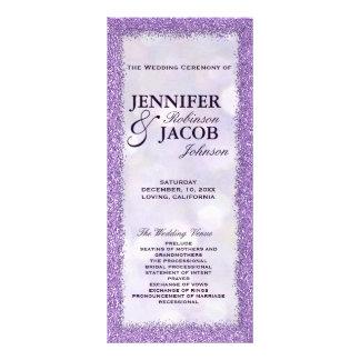 Wedding Program | Lavender with Glitter Frame Full Colour Rack Card