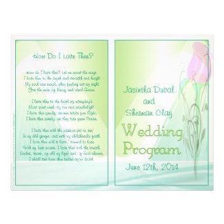 Wedding Program (non-religious version) Full Colour Flyer