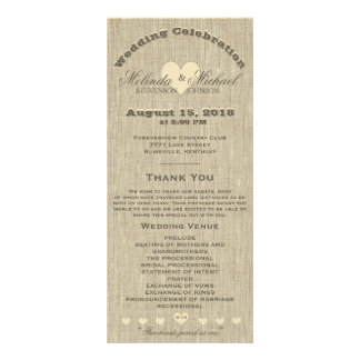 Wedding Program Rustic Linen