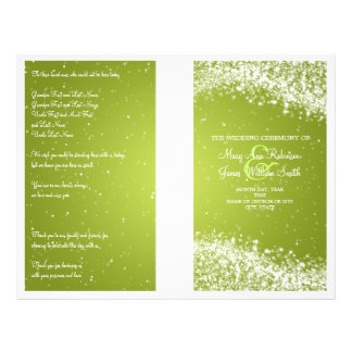 Wedding Program Sparkling Wave Lime Full Color Flyer