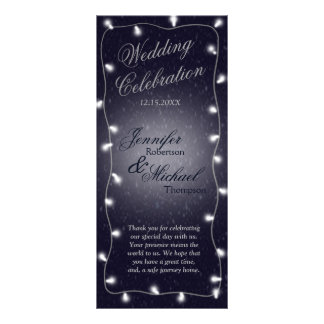 Wedding Program | Starry Night