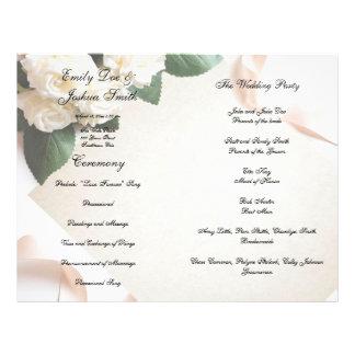 Wedding Program Template Ceremony Modern White