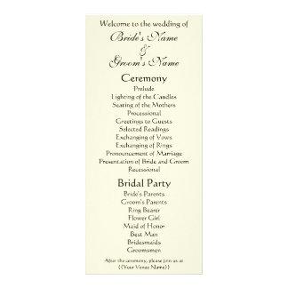 Wedding Program; The Kiss by Gustav Klimt Rack Cards