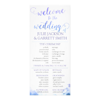 Wedding Program - Watercolor US Wedding Program Custom Rack Card