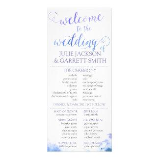 Wedding Program - Watercolor World Wedding Program Custom Rack Card