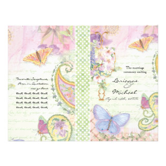 Wedding Program - Wings of Love Collection Full Colour Flyer