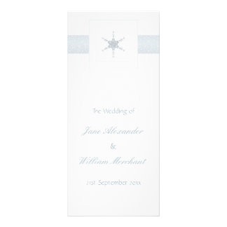 Wedding Program Winter Snowflake Glitter Effect