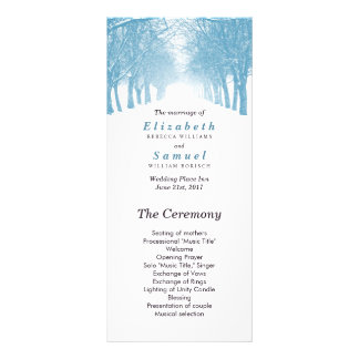 Wedding Program Winter Trees Avenue Path