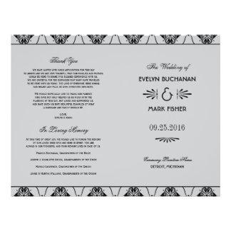 Wedding Programs   Art Deco Style Personalized Flyer