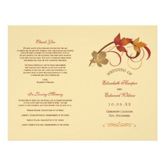 Wedding Programs | Falling Leaves