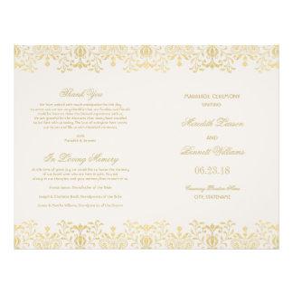 Wedding Programs Gold Vintage Glamour Full Color Flyer