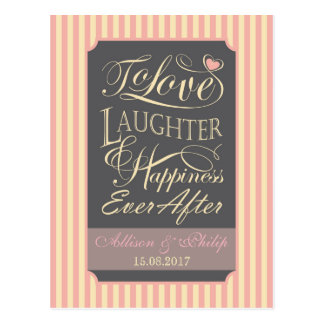 Wedding quote design postcard