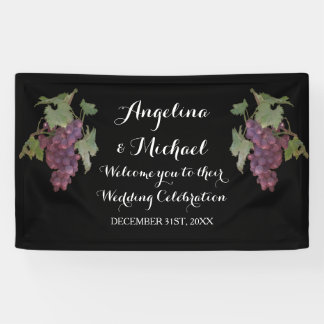 Wedding Reception Banner Wine Grape Winery Wedding