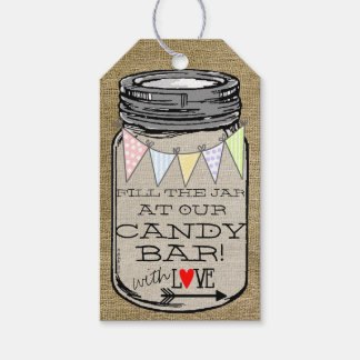 Wedding Reception Candy Table Guest Favor Pack Of Gift Tags