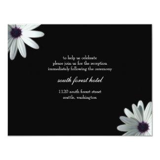 """Wedding Reception Card 4.25"""" X 5.5"""" Invitation Card"""
