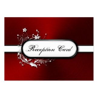 Wedding Reception Card Bold Modern Metallic Floral Business Card