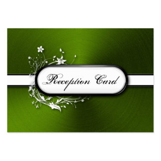 Wedding Reception Card Bold Modern Metallic Floral Business Card Templates