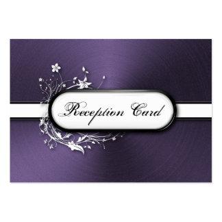 Wedding Reception Card Bold Modern Metallic Floral Business Card Template