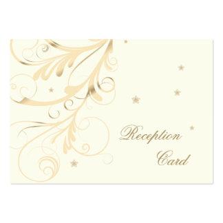 Wedding Reception Card Elegant Floral Swirl Business Card Template