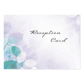 Wedding Reception Card Elegant Pretty Leaves Business Cards