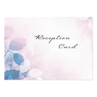 Wedding Reception Card Elegant Pretty Leaves Business Card Template