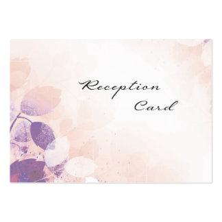 Wedding Reception Card Elegant Pretty Leaves Business Card