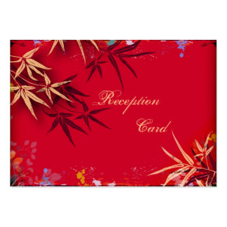 Wedding Reception Card Elegant Speckle Bamboo Leaf Business Card Templates