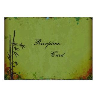 Wedding Reception Card Elegant Vintage Bamboo Business Card Templates