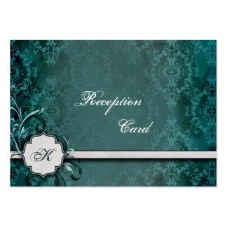 Wedding Reception Card Elegant Vintage Damask Business Cards