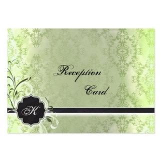 Wedding Reception Card Elegant Vintage Damask Business Card Template