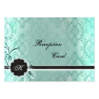 Wedding Reception Card Elegant Vintage Damask Business Card