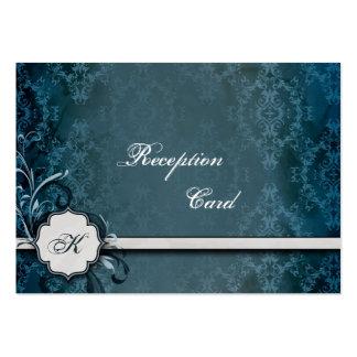 Wedding Reception Card Elegant Vintage Damask Business Card Templates