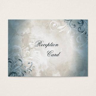 Wedding Reception Card Elegant Vintage Foliage