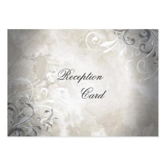 Wedding Reception Card Elegant Vintage Foliage Business Card Templates