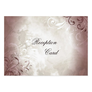 Wedding Reception Card Elegant Vintage Foliage Business Card Template