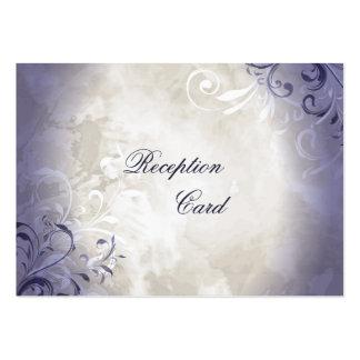 Wedding Reception Card Elegant Vintage Foliage Business Card