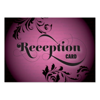 Wedding Reception Card Gorgeous Bold Script & Fern Business Card Templates