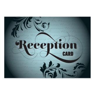 Wedding Reception Card Gorgeous Bold Script & Fern Business Cards