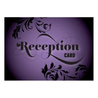 Wedding Reception Card Gorgeous Bold Script & Fern Business Card Template