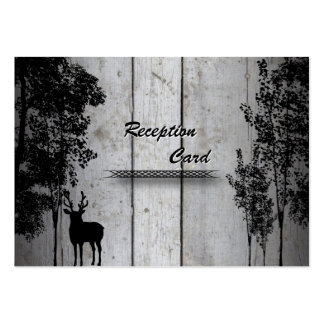 Wedding Reception Card Rustic Deer Wood Trees Business Cards