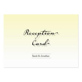 Wedding Reception Card Simple Crisp Clean Business Cards